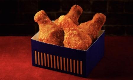ローソンのクリスマスチキン|黄金チキン骨つきBOX4個入の画像